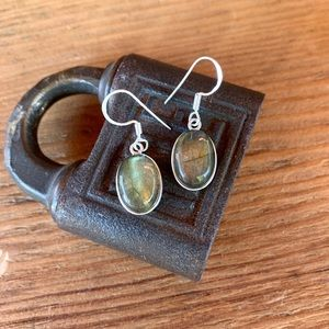 ✨ARTISAN LABRADORITE STERLING SILVER DROP EARRINGS